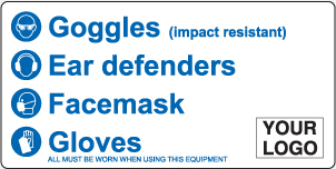 PPE - Goggles, Ear Defenders, Face Mask, Gloves