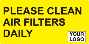 Clean air filters daily