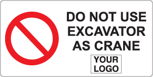 Do not use excavator as crane