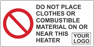 Do not place combustible material on heater