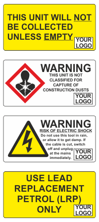 Branded Hire Safety Stickers