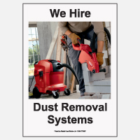 We Hire Dust Removal Systems Poster