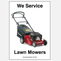 We Service Lawn Mowers