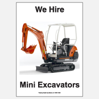 We Hire Mini Excavators